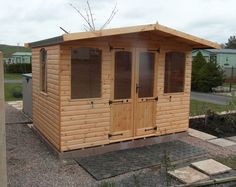 """Unique wooden summerhouse with full glass windows and 24"""" canopy"""