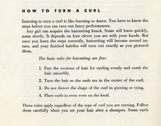 Beauty is a thing of the past: How to Turn a Curl