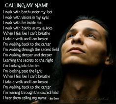 Calling My Name - I really resonate with this, it makes me feel like crying, truly beautiful.