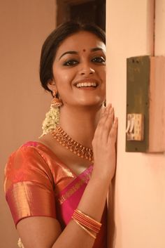 Actress Keerthy Suresh Traditional Stills - Social News XYZ Indian Wedding Photography Poses, Indian Wedding Photos, Couple Photography Poses, Dress Indian Style, Indian Dresses, Most Beautiful Indian Actress, Beautiful Actresses, Keerthy Suresh Hot, Kirthi Suresh