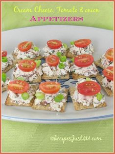 Cream Cheese Tomato & spring onion Appetizers