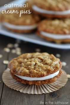 Oatmeal Cream Pies! These are super simple and totally delicious! - Life In The Lofthouse