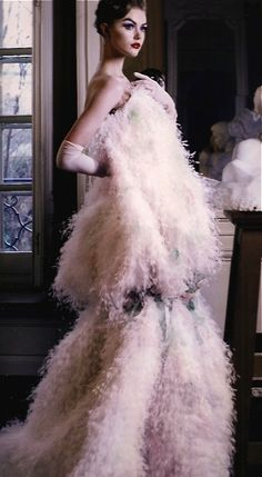 Christian Dior in pale pink.