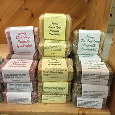 Pure natural homemade honey soap