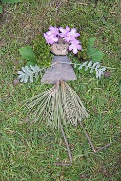 Land art fairy made with natural materials - so magical!