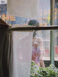 Saul Leiter Color Photograph, Woman Through Window, 2004