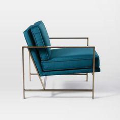 Metal Frame Upholstered Chair   west elm