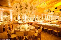 Sentimental setting: Donald and Melania Trump married at the Mar-a-Lago clubin 2005...