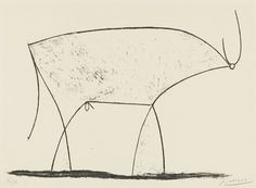 Bull (plate XI)     Artist: Pablo Picasso  Completion Date: 1946  Style: Cubism  Period: Neoclassicist & Surrealist Period  Series: Eleven developments of a lithograph  Genre: animal painting  Technique: lithography  Material: paper  Dimensions: 29.2 x 39.5 cm  Gallery: Museum of Modern Art, New York, USA