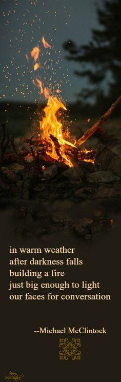 Tanka poem: in warm weather -- by Michael McClintock.