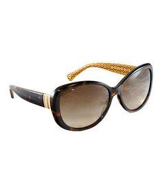 Coach Dark Tortoise Oversize Sunglasses