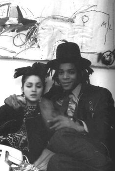 Madonna & Jean Michel Basquiat (circa 1982). Two of my favorite people in the world. Love it. :)