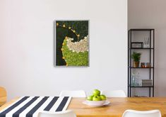 This piece of moss art with yellow roses and white jasmines lasts years without any maintenance. It is a perfect uplifting interior decor for your kitchen, living or dark corridors as the flowers do not need any water, light or spray, just keep them indoor and enjoy! Moss Art, Natural Interior, Flower Letters, Unique Wall Art, How To Preserve Flowers, Yellow Roses, Botanical Art, Kitchen Living, Flower Arrangements