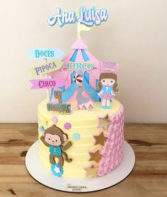 Bolo Drip Cake, Drip Cakes, Bolo Minnie, Baby Clip Art, Shower Cakes, Cake Toppers, Cami, Birthday Cake, Party