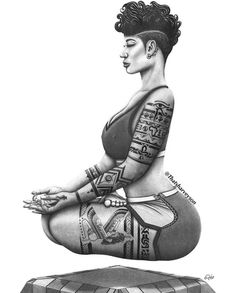 Sexy Black Art, Black Love Art, Black Girl Art, Art Girl, Black Man, African Tattoo, Afrique Art, By Any Means Necessary, Black Art Pictures