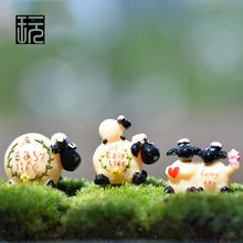 Flor de la arcilla modelo de oveja jardín de hadas miniaturas DIY Doll House / terrario / Desktop / Micro musgo paisaje decoración(China (Mainland))