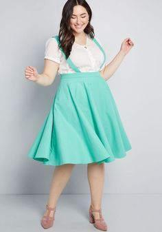 Collectif x MC Curtsy Courtesy Midi Jumper in 8 (UK) - Full Skirt Knee Length by Collectif from ModCloth Zooey Deschanel, Plus Size Skirts, Plus Size Outfits, Taylor Swift, Plus Size Vintage Clothing, Women's Clothing, Hipster, Spring Skirts, Curvy Dress