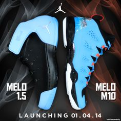 NEW RELEASE: Kick-start the #newyear with your choice of the new #JORDAN MELO 1.5 or M10 #sneakers.  Available at select #ShopWSS store locations.