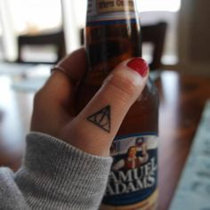 deathly hallows tattoo neck - Google Search