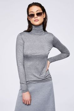 MARELLA Nerine Lurex Polo Neck Jumper - this silver sparkle polo neck will add some shimmer to all your festive outfits Polo Neck, Festival Outfits, Knitwear, Jumper, High Neck Dress, Fitness, Festive, Sweaters, Sparkle