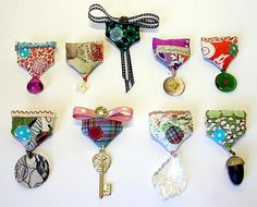 Mini medal brooches