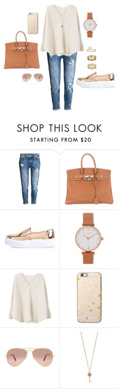 """Goldmember"" by amanda-j-burke on Polyvore featuring H&M, Hermès, River Island, Olivia Burton, MANGO, Ray-Ban, Aéropostale and Miss Selfridge Olivia Burton, Miss Selfridge, River Island, Polyvore Fashion, Amanda, Ray Bans, Shoe Bag, Stuff To Buy, Outfits"