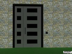 Puerta principal en chalet
