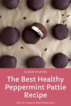 Peppermint pattie lovers, unite Healthy Holiday Recipes, Holiday Meals, Winter Recipes, Quick Snacks, Healthy Snacks, Low Sugar Desserts, Patties Recipe, Peppermint Patties, Homemade Candies