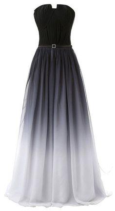 Gradient Prom Dress,Strapless Prom Dress,Maxi Prom Dress,Fashion Prom