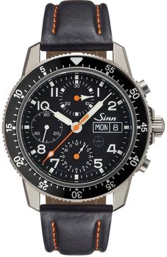 Sinn Watch 103 Ti UTC Testaf Leather LEATHER Bracelet Watch available to buy online from with free UK delivery. Bracelet Cuir, Bracelet Watch, Cool Watches, Watches For Men, Men's Watches, Unique Watches, Modern Watches, Sinn Watch, Titanium Watches