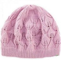 Free knitting pattern for a lace leaf hat! Lace Knitting Stitches, Lace Knitting Patterns, Free Knitting, Baby Knitting, Knit Crochet, Crochet Hats, Hats For Women, Knitted Hats, Balerina