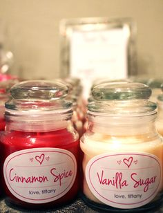 Sugar & Spice Baby Shower - some good ideas on this page I thought.  These could make good favors or even prizes for a game.