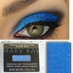Achieve this striking look by using Peacock Blue, Coal, Gel Liner and Ultimate Mascara!