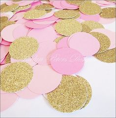 Pink, Rose & Gold Party Confetti