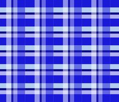 Blue and white tartan plaid fabric by diseniaz on Spoonflower - custom fabric Plaid Fabric, Tartan Plaid, Custom Fabric, Spoonflower, Craft Projects, Fabrics, Blue And White, Colorful, Quilts