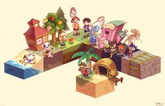 Animal Crossing: New Leaf print , inspired by, strangely enough, Minecraft