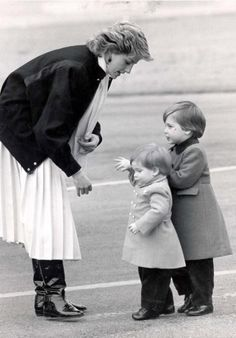 Princess Di with William and Harry