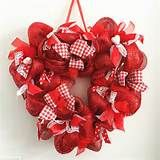 deco mesh valentine door wreaths - - Yahoo Image Search Results