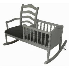 How cute is this?!?! Rocker + cradle in one. Too bad I don't need anymore baby furniture.