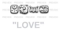 LOVE Mayan Glyphs Tattoo Design G » ₪ AZTEC TATTOOS ₪ Aztec Mayan Inca Tattoo Designs Instant Download