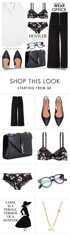 """""""Thursday in the office"""" by dolly-valkyrie ❤ liked on Polyvore featuring Isa Arfen, H&M, Yves Saint Laurent, WALL and Sydney Evan"""