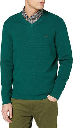 Hilfiger-Qualität  Bekleidung, Herren, Sweatshirts & Kapuzenpullover, Sweatshirts Tommy Hilfiger, Sweatshirts, Men Sweater, V Neck, Sweaters, Cotton, Fashion, Hoodie, Summer