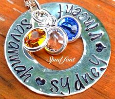 Personalized Sterling Silver Washer Necklace, Just $21.99---Normally $65.00!