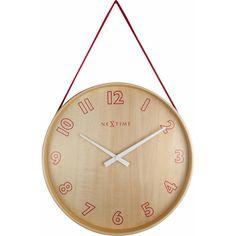 NeXtime Loop Small Wandklok Ø 26 cm London Clock, Pendulum Wall Clock, Howard Miller, Wall Clock Online, Australia Living, Wood Wall, Red And Blue, Colour Red, Colors