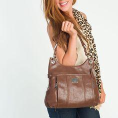 "Grace Adele ""Laney"" leather bag, in Cognac"
