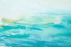 Este papel de pared abstracto muestra una imagen de moda con efecto pintura que está repleta de color y textura. Transforma tu hogar con un toque turquesa en este alegre tono celeste.