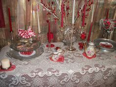 VALENTINE BUFFET TABLE