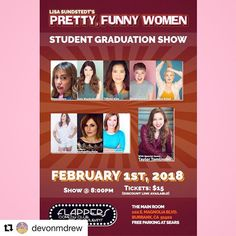 This is gonna be good! Funny Women, Magnolia, Comedy, Student, Good Things, Pretty, Magnolias, Comedy Theater, College Students