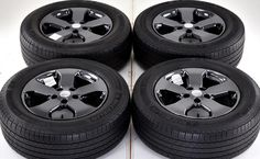 18 Jeep Grand Cherokee Black Chrome Wheels Tires Factory 2011 2016 9106 | eBay