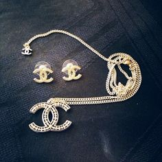 Authentic Chanel Earrings Necklace Set Get The Lowest Price On